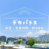 【デカパトス】2021年の営業時間・料金・持ち込み可能なもの|神戸・六アイのプール