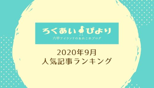 【2020年9月】ろくあいびより人気記事ランキングTOP10