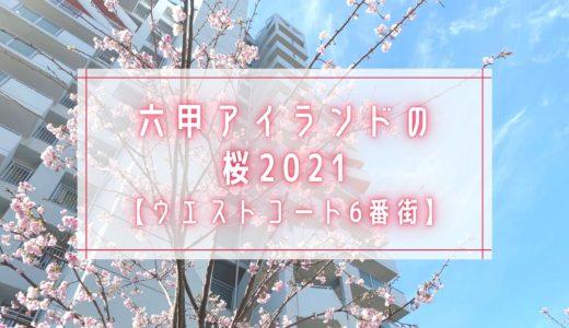 【六甲アイランドの桜2021】ウエストコート6番街|オオカンザクラ(大寒桜)